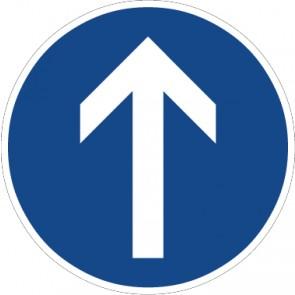 Aufkleber Vorschriftzeichen Vorgeschriebene Fahrtrichtung, geradeaus · Zeichen 209-30