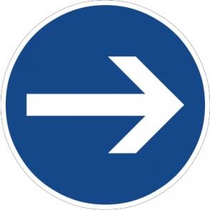 Fußbodenaufkleber Vorschriftzeichen Vorgeschriebene Fahrtrichtung, Hier rechts · Zeichen 211