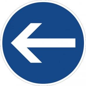 Aufkleber Vorschriftzeichen Vorgeschriebene Fahrtrichtung, Hier links · Zeichen 211-10