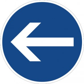 Fußbodenaufkleber Vorschriftzeichen Vorgeschriebene Fahrtrichtung, Hier links · Zeichen 211-10