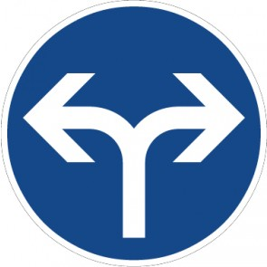 Fußbodenaufkleber Vorschriftzeichen Vorgeschriebene Fahrtrichtung, rechts oder links · Zeichen 214-30