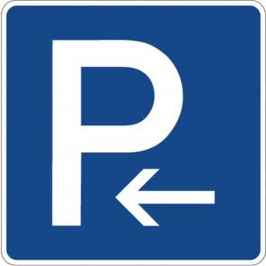 Schild Richtzeichen Parkplatz (Anfang) · Zeichen 314-10