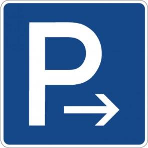 Schild Richtzeichen Parkplatz (Ende) · Zeichen 314-20