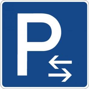 Aufkleber Richtzeichen Parken Mitte (Aufstellung rechts oder links) · Zeichen 314-30