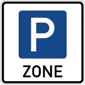 Aufkleber Richtzeichen Beginn einer Parkraumbewirtschaftungszone · Zeichen 314.1