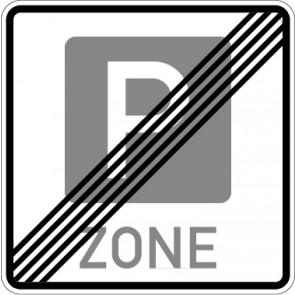 Aufkleber Richtzeichen Ende einer Parkraumbewirtschaftungszone · Zeichen 314.2