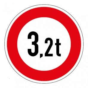 MAGNETSCHILD Zulässiges Gesamtgewicht 3,2t