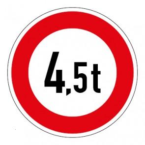 MAGNETSCHILD Zulässiges Gesamtgewicht 4,5t