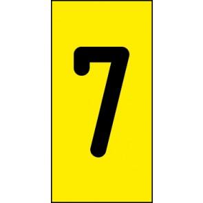 Magnetschild Einzelziffer 7 | schwarz · gelb