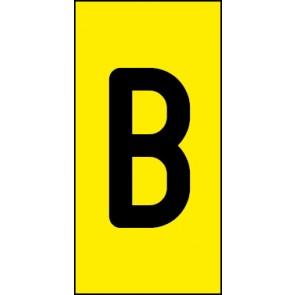 Magnetschild Einzelbuchstabe B | schwarz · gelb