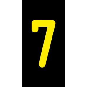 Aufkleber Einzelziffer 7 | gelb · schwarz