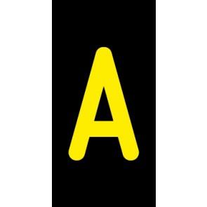 Aufkleber Einzelbuchstabe A | gelb · schwarz