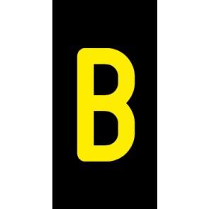 Aufkleber Einzelbuchstabe B | gelb · schwarz