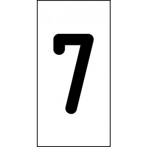 Aufkleber Einzelziffer 7 | schwarz · weiß