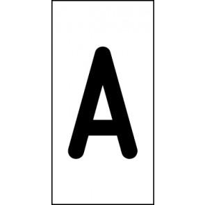 Magnetschild Einzelbuchstabe A | schwarz · weiß