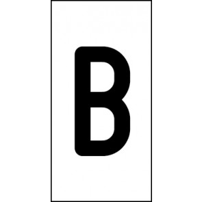 Aufkleber Einzelbuchstabe B | schwarz · weiß