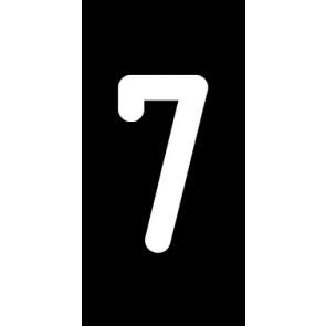 Aufkleber Einzelziffer 7 | weiß · schwarz | stark haftend