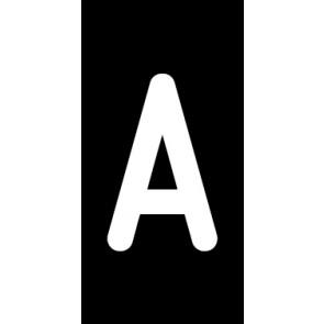Aufkleber Einzelbuchstabe A | weiß · schwarz | stark haftend