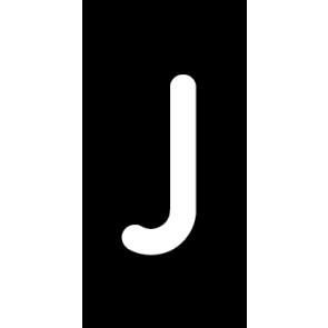 Magnetschild Einzelbuchstabe J | weiß · schwarz