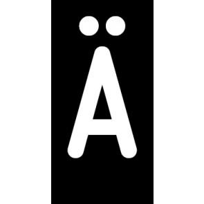 Magnetschild Einzelbuchstabe Ä | weiß · schwarz
