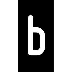 Magnetschild Einzelbuchstabe b | weiß · schwarz