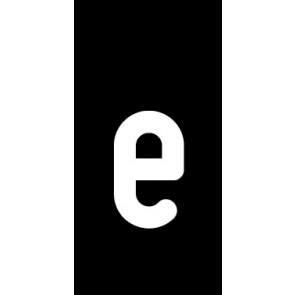Magnetschild Einzelbuchstabe e | weiß · schwarz