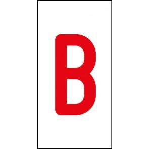 Aufkleber Einzelbuchstabe B | rot · weiß