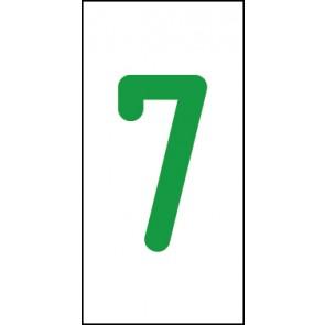 Aufkleber Einzelziffer 7 | grün · weiß