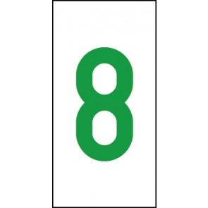 Aufkleber Einzelziffer 8 | grün · weiß