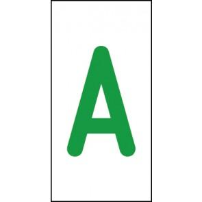 Schild Einzelbuchstabe A | grün · weiß