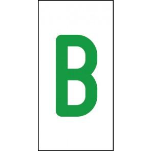 Aufkleber Einzelbuchstabe B | grün · weiß