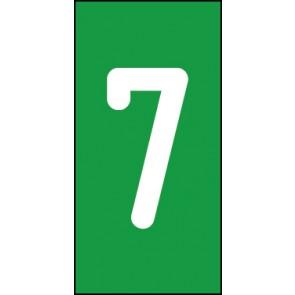 Magnetschild Einzelziffer 7 | weiß · grün