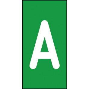 Aufkleber Einzelbuchstabe A | weiß · grün