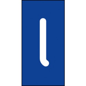 Schild Einzelbuchstabe l | weiß · blau