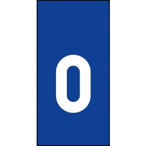 Schild Einzelbuchstabe o | weiß · blau