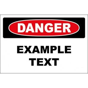 Aufkleber Example Text · Danger · OSHA Arbeitsschutz