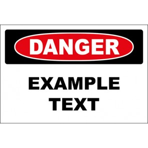 Hinweisschild Example Text · Danger