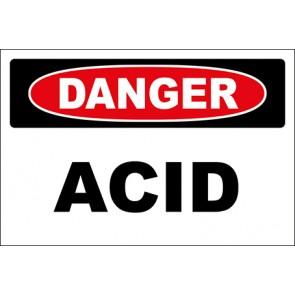 Hinweisschild Acid · Danger · OSHA Arbeitsschutz