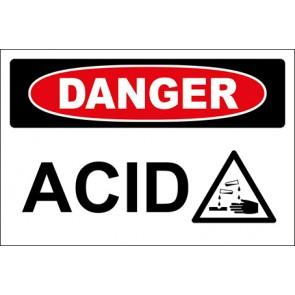 Aufkleber Acid With Picture · Danger · OSHA Arbeitsschutz