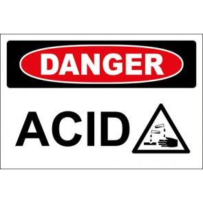 Hinweisschild Acid With Picture · Danger