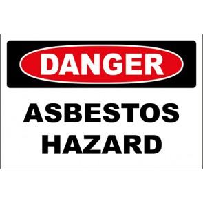 Aufkleber Asbestos Hazard · Danger · OSHA Arbeitsschutz
