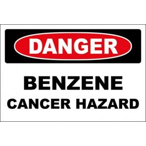 Hinweisschild Benzene Cancer Hazard · Danger · OSHA Arbeitsschutz