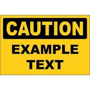 Hinweisschild Example Text · Caution