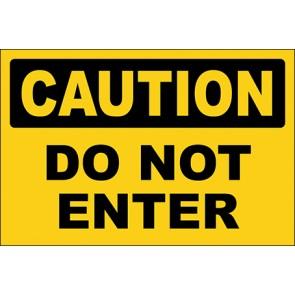 Hinweisschild Do Not Enter · Caution