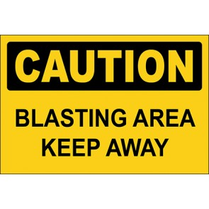 Magnetschild Blasting Area Keep Away · Caution