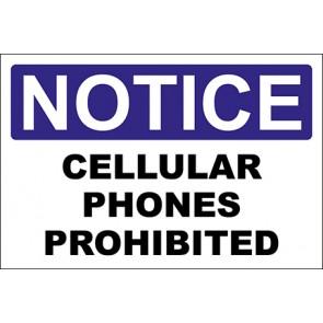 Aufkleber Cellular Phones Prohibited · Notice · OSHA Arbeitsschutz