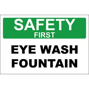 Aufkleber Eye Wash Fountain · Safety First · OSHA Arbeitsschutz