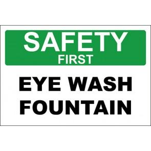 Aufkleber Eye Wash Fountain · Safety First · OSHA Arbeitsschutz