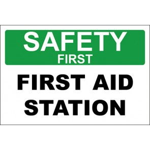 Magnetschild First Aid Station · Safety First