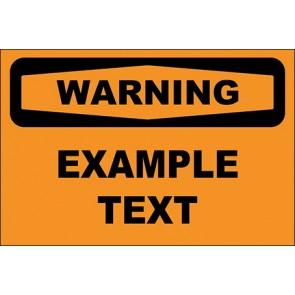 Hinweisschild Example Text · Warning · OSHA Arbeitsschutz